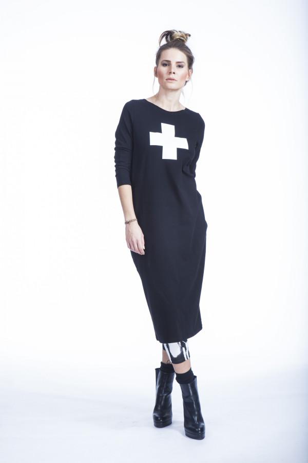 FNDLK úpletové šaty 364 RVL midi