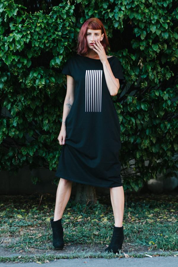 FNDLK úpletové šaty 392 RKkL midi (oversized)