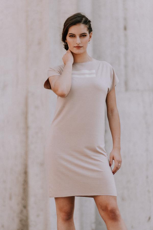 FNDLK úpletové šaty 399 RKkL nude
