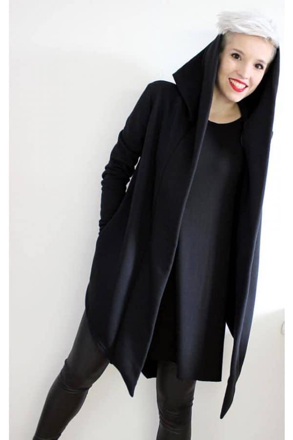 Mikina s kapucí s lemem 073 D