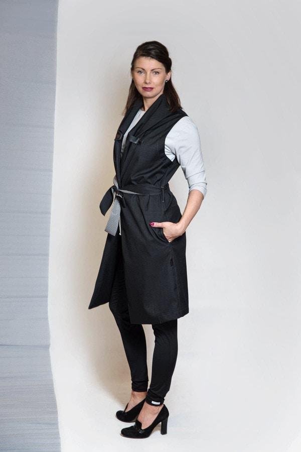 Podzimní Softshellová vesta Norr - Black
