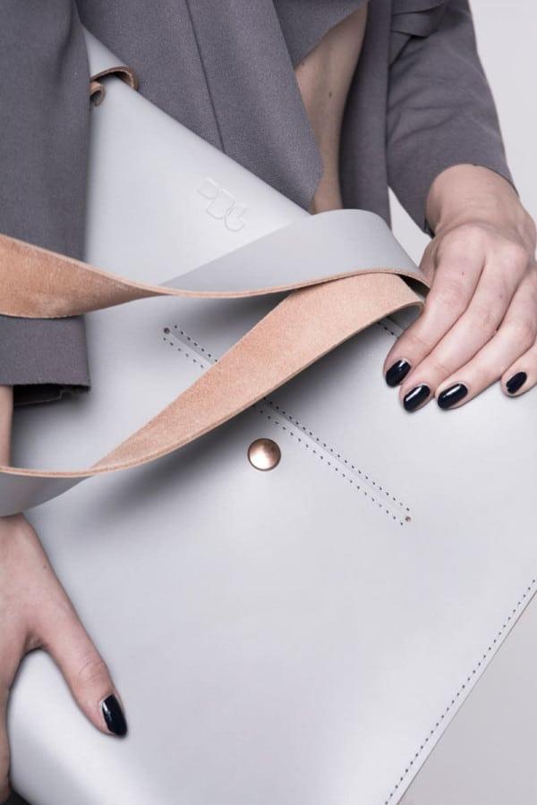 Leather bag/Grey