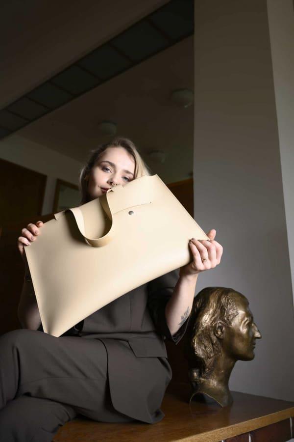 Leather bag/Ivory