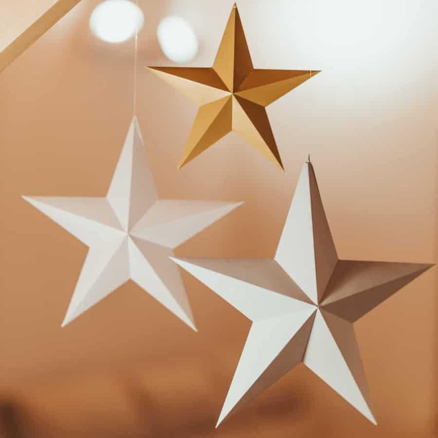 Vánoční hvězda – sada 3 kusy