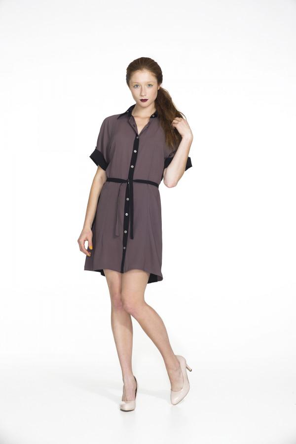Košilové šaty Samourai Design s vázáním v pase č.2