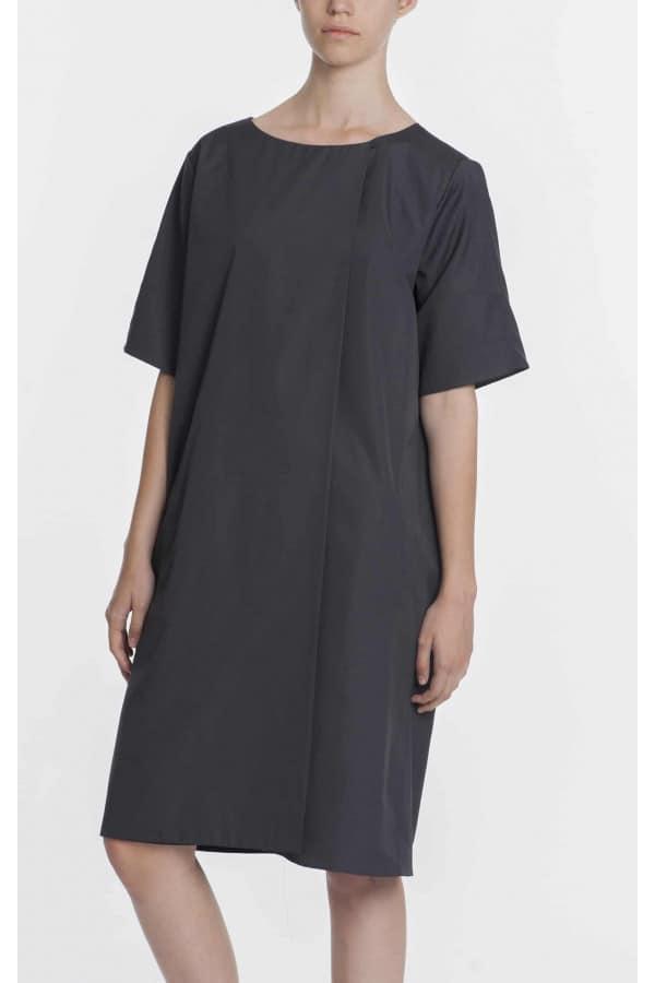 Antracitové šaty s kapsami SS/2017