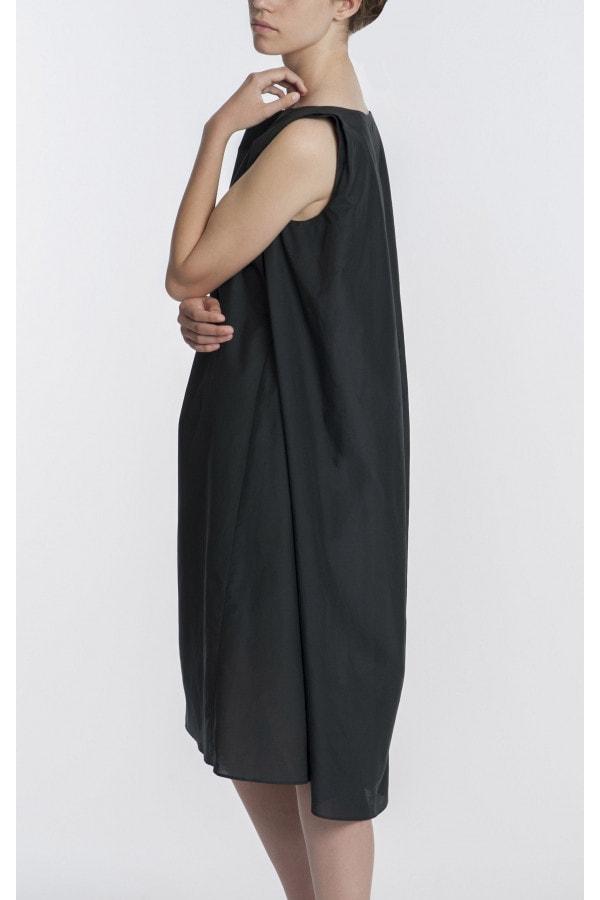 Hedvábné antracitové šaty SS/2017
