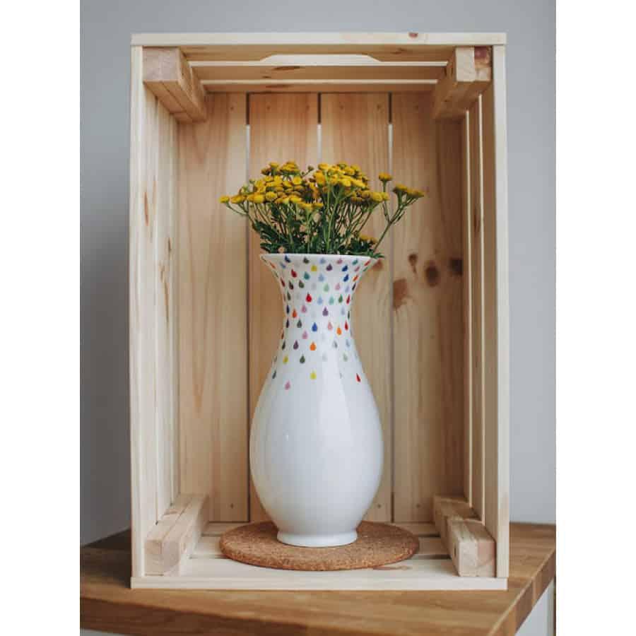 Barvy deště - porcelánová váza (velká)