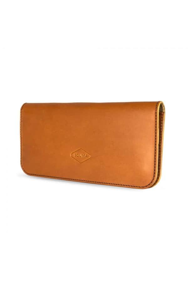 Kožená dámská peněženka Fold - Koňak