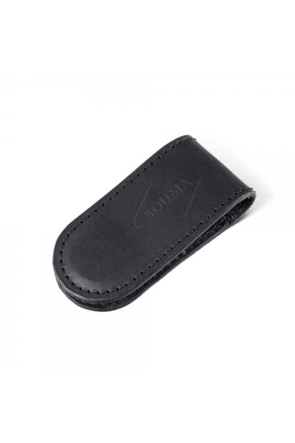 Kožená peněžěnka Money Clip - černá