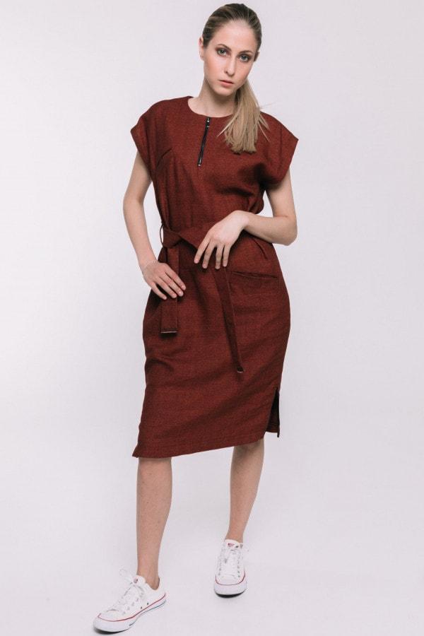 Červené oversized šaty