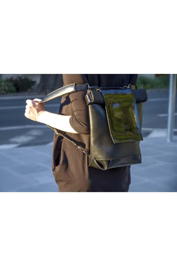 TEABAG batoh+taška v jednom - černá