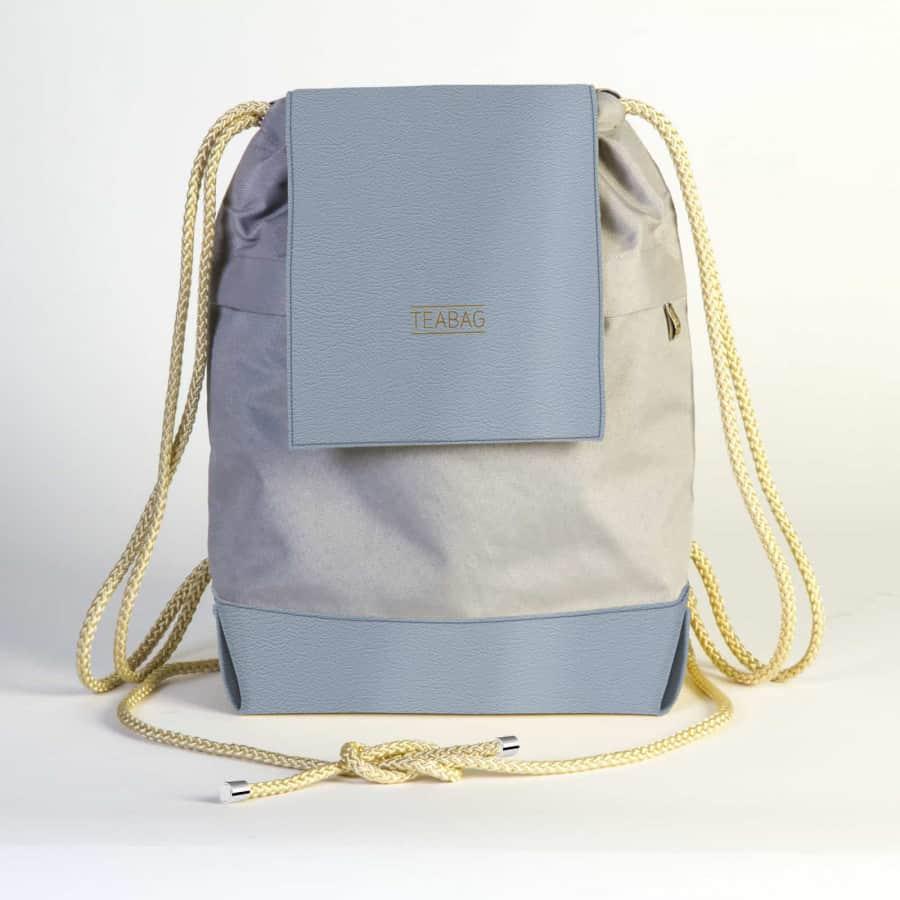 TEABAG batůžek – šedo-modrý