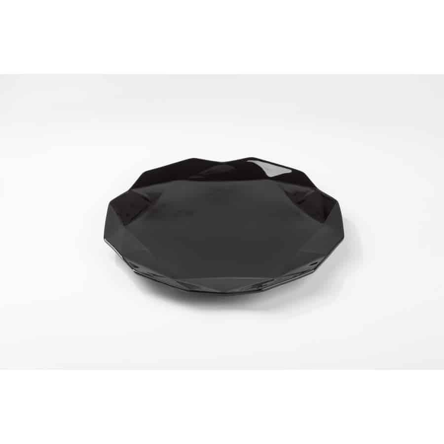 Černý dezertní talíř