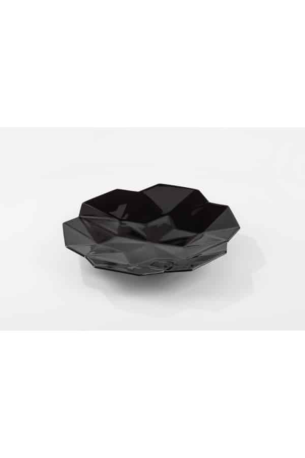 Černý hluboký talíř