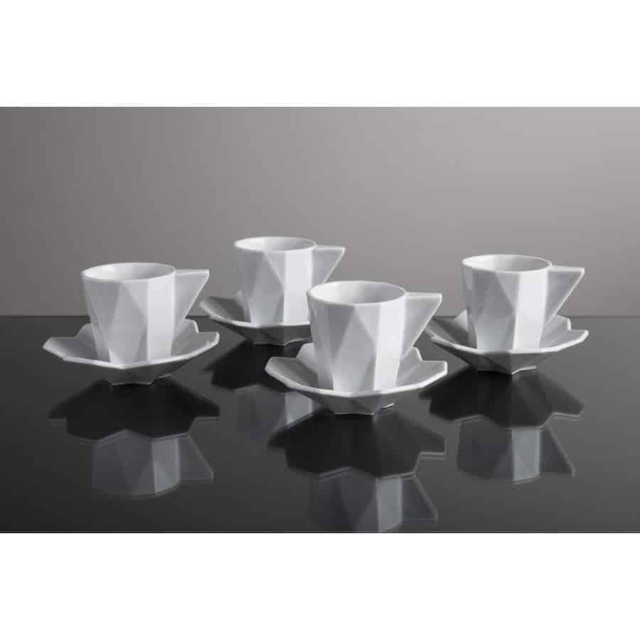 Set 4 espresso šálek s podšálkem