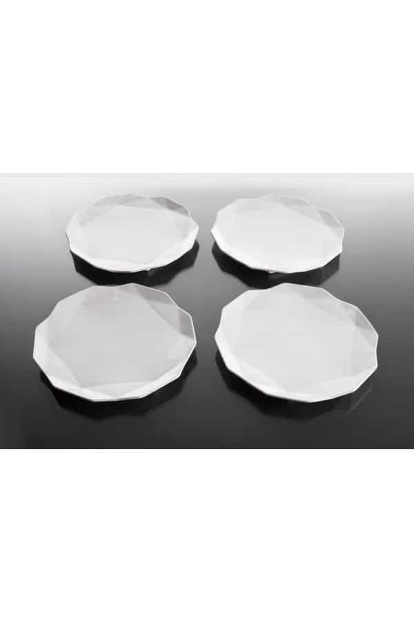 Set 4 mělkých talířů