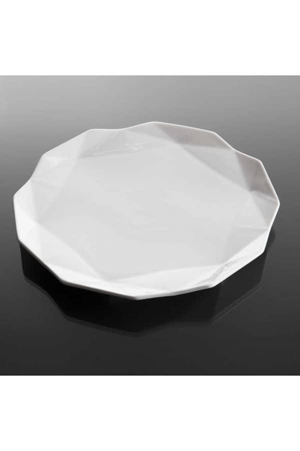 geometrický dezertní talíř