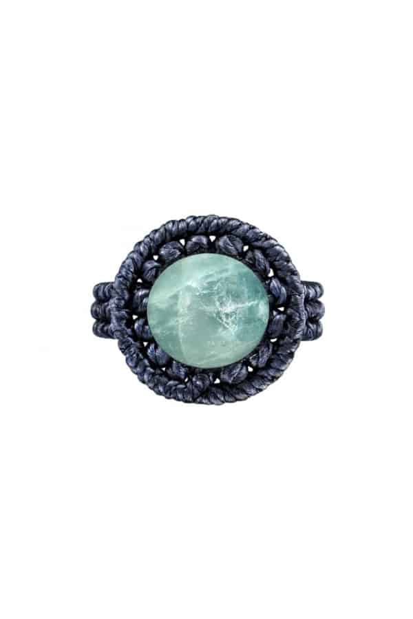 Drhaný prsten s akvamarínem