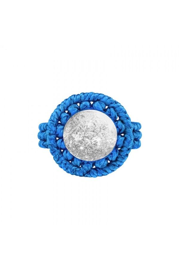 Drhaný prsten s křišťálem