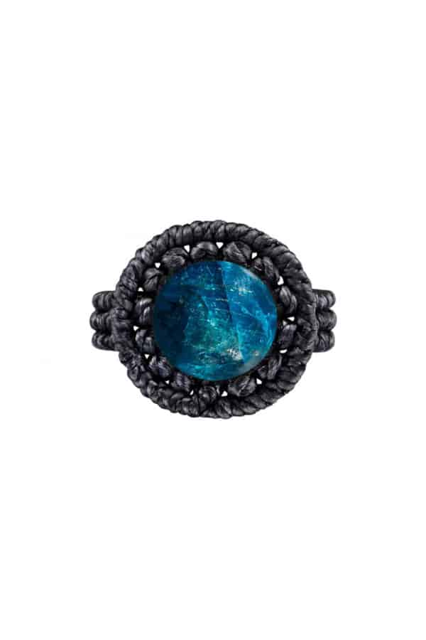Drhaný prsten s neonovým apatitem