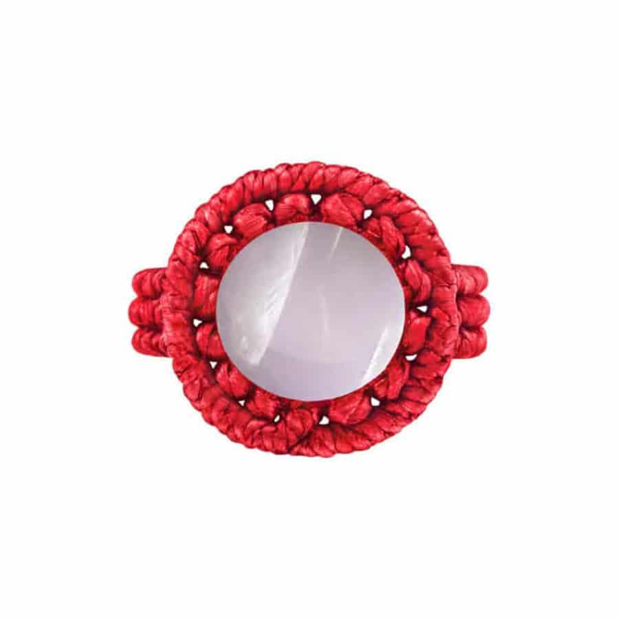 Drhaný prsten s růženínem