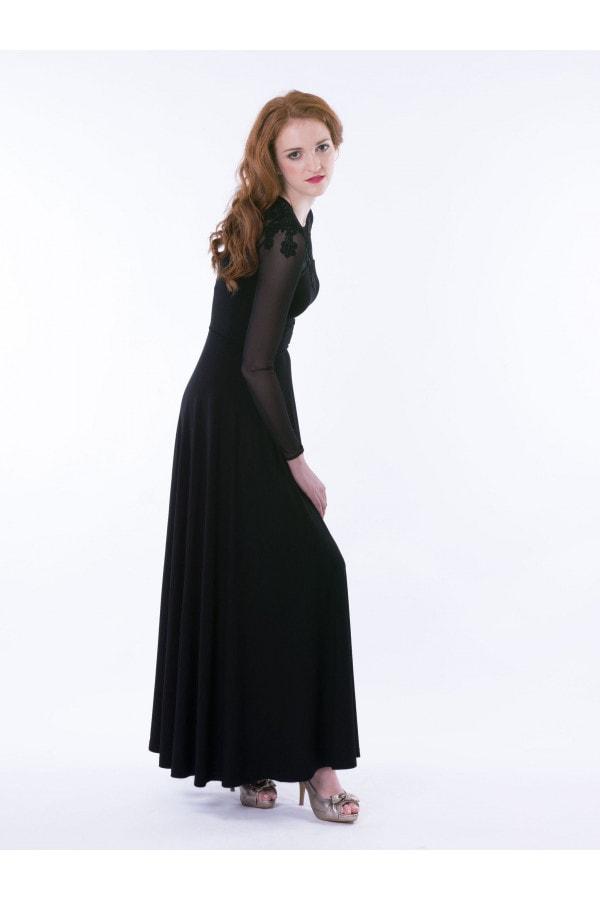 Šaty dlouhé s krajkou
