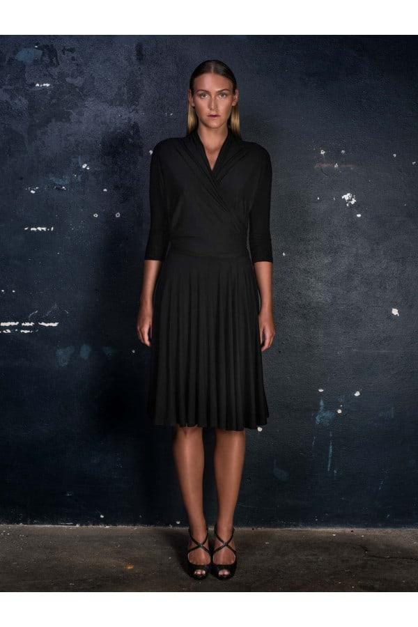 Šaty vázací černé
