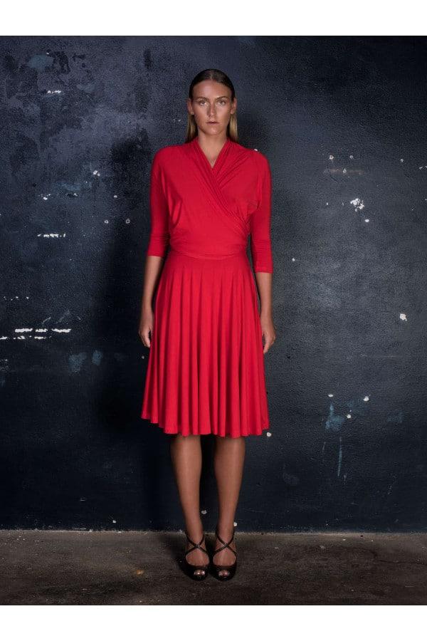 Šaty vázací červené
