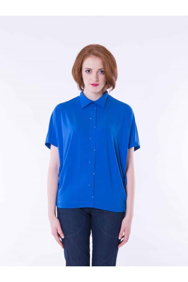 Tričko s límečkem modré