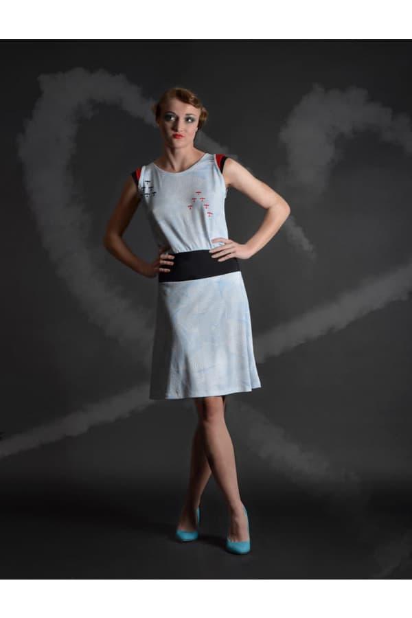 šaty bílé - red baron