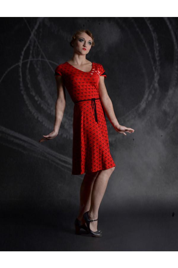 šaty červené letadla - RED BARON
