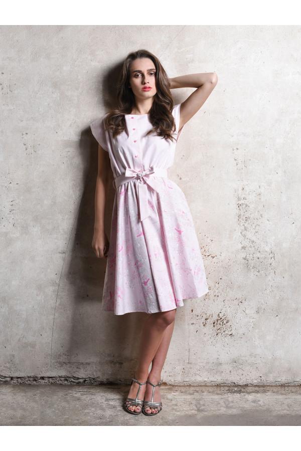 šaty košilové růžové - Pohádka