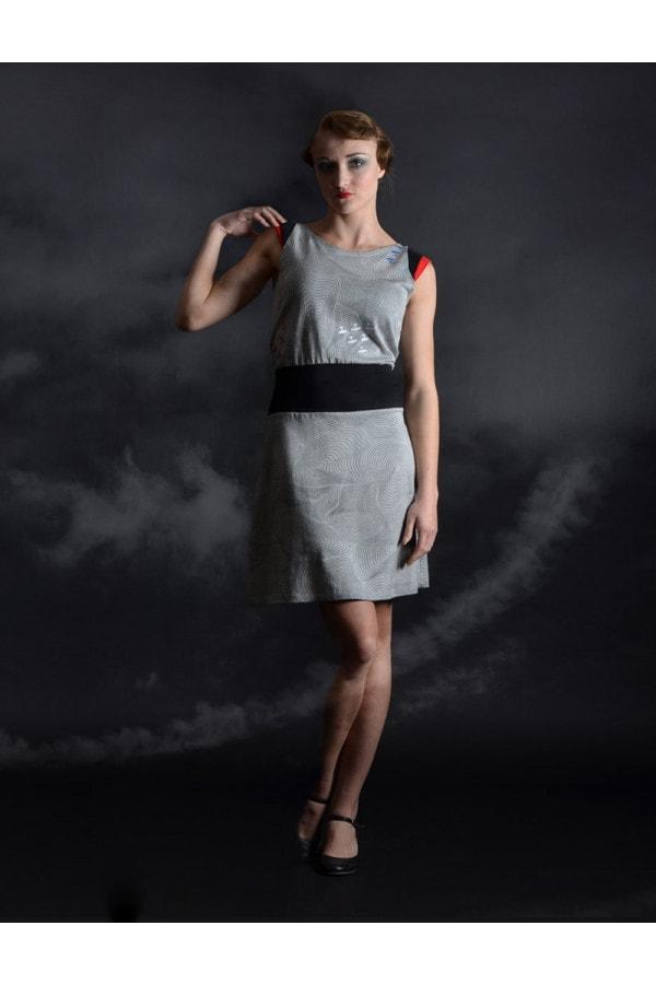 šaty šedé - RED BARON