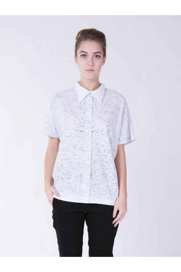 tričko s límečkem potisk