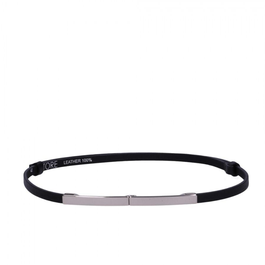 černý kožený pásek - ETRO