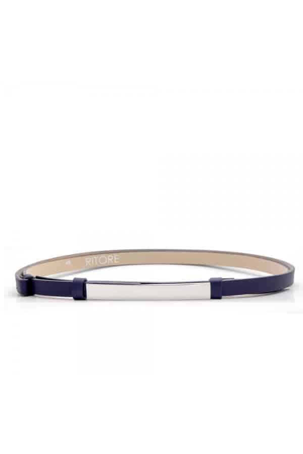 kobaltově modrý kožený pásek - DION