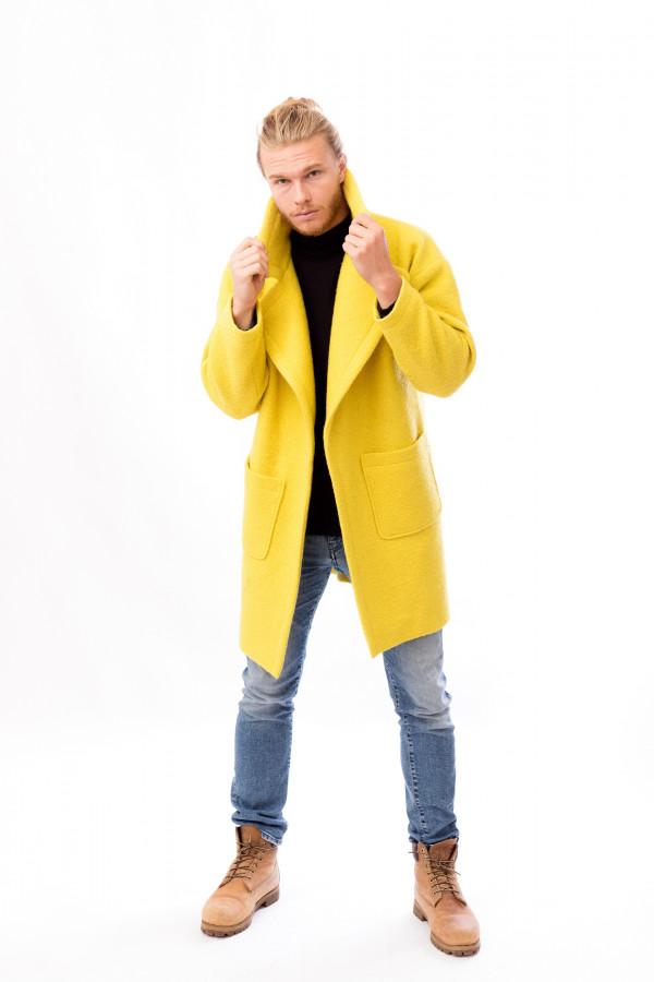 pánský žlutý kabát