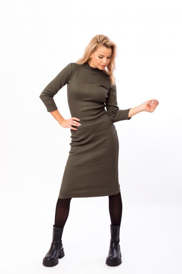 šaty rolák khaki