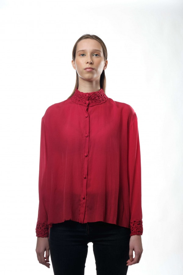 košile HAČIKO SILK RED