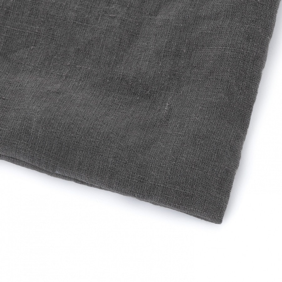 Lněné dětské povlečení Dark Grey 90x135, 40x60